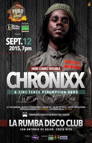 Puro Roots #05 con Chronixx & Zinc Fence Redemption Band (Septiembre 2015)