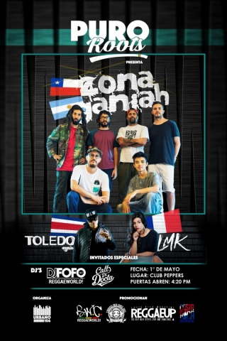 Puro Roots #06 con Zona Ganjah, L.M.K & Toledo (Mayo 2018)