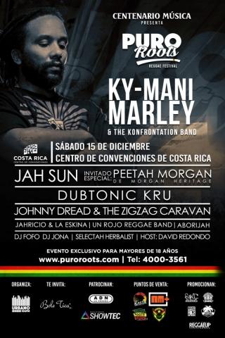 Puro Roots #07 con Ky-Mani Marley,Peetah Morgan,Jah Sun,Dubtonic Kru Band & Johnny Dread (Dic 2018)